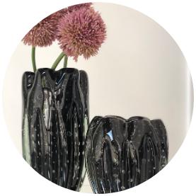 vaso de decorac a o em murano preto1