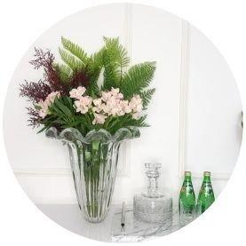 vaso de decorac a o em murano cristal g ambientado